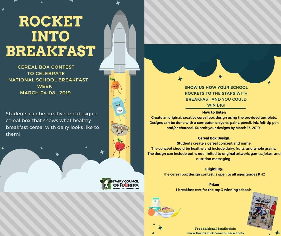 Rocket Into Breakfast Social Media Pictures