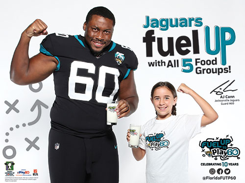 jaguars furwel up with all 5 food groups image