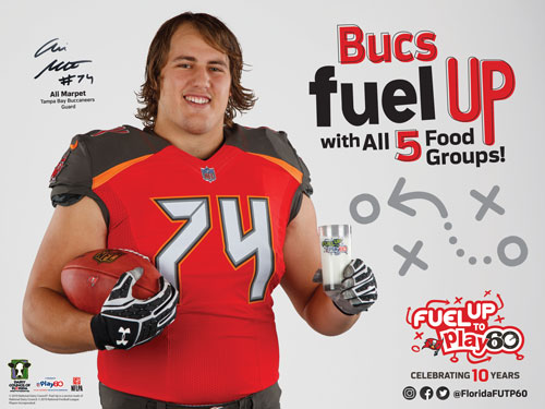 bucs furle up with all 5 food groups image