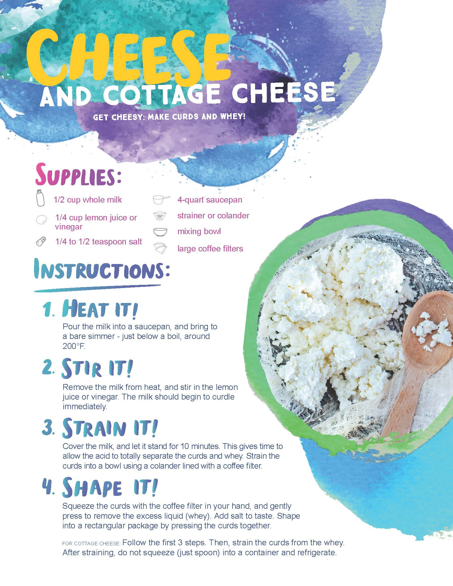 How to Make Cheese and Cottage Cheese image