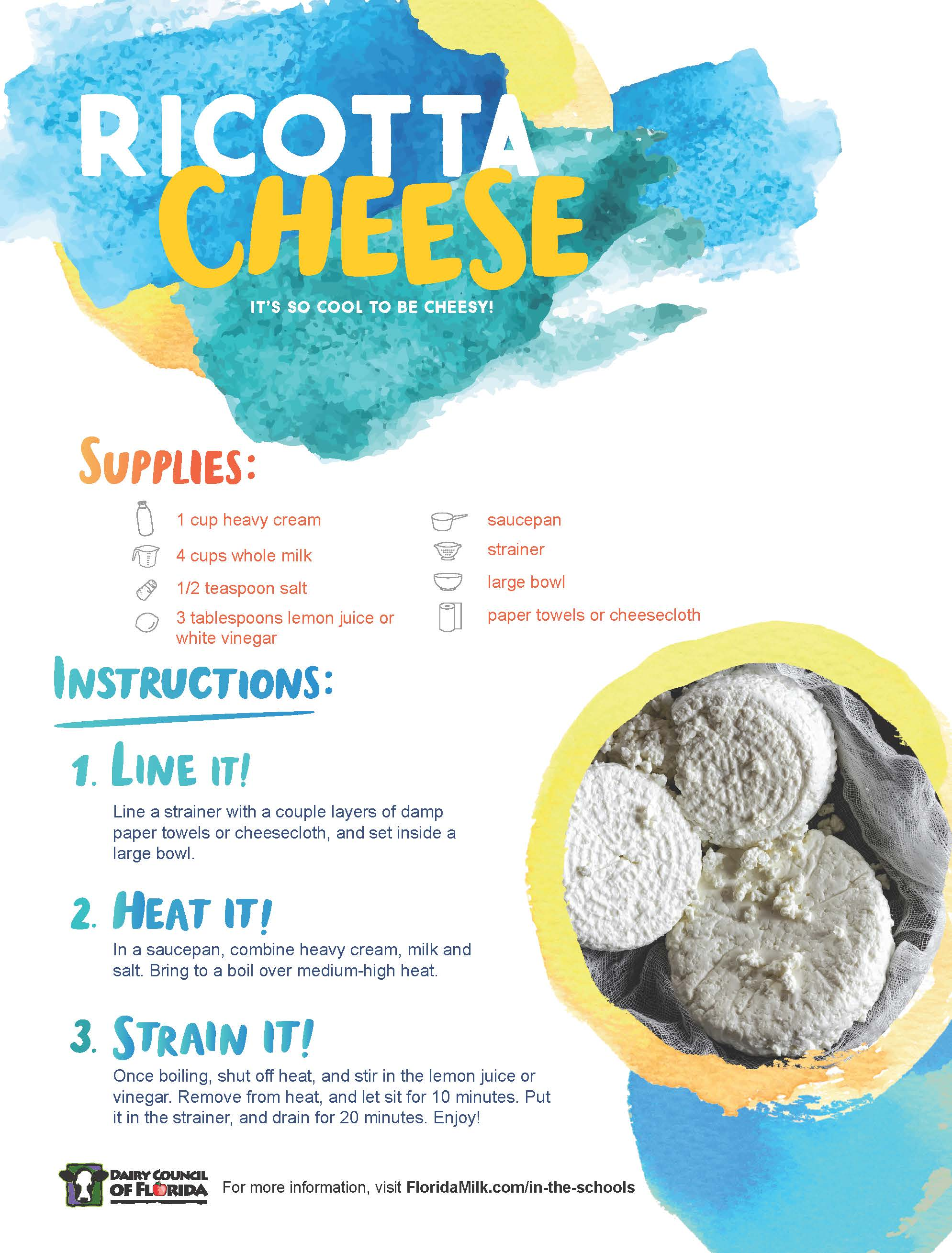 How to Make Ricotta Cheese image