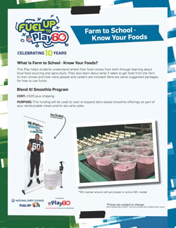 Farm to School Healthy Eating Play Funding Ideas