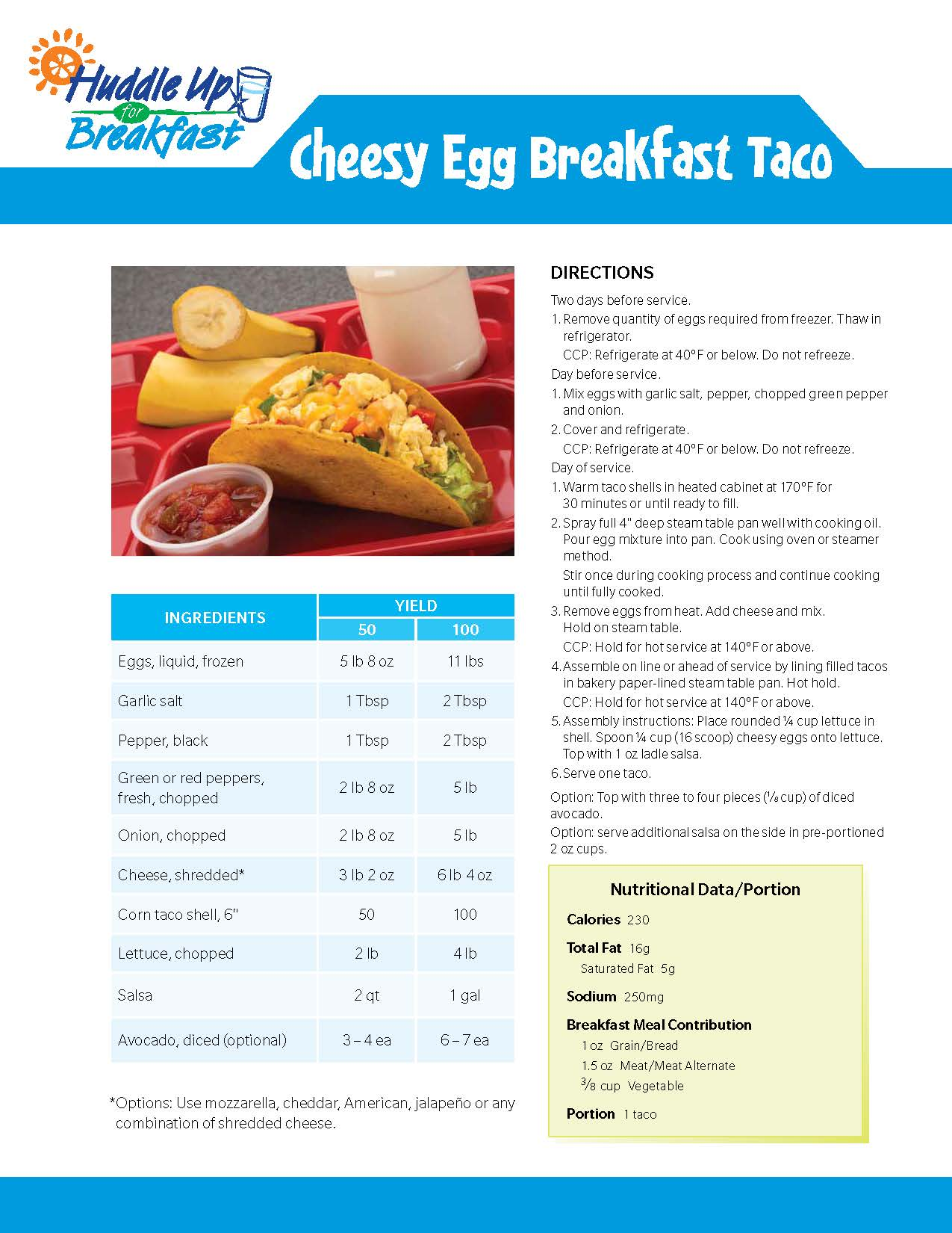Cheesy Egg Breakfast Tacos Main Image