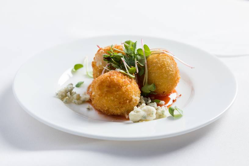 Serrano Ham and Gorgonzola Cheese Croquette