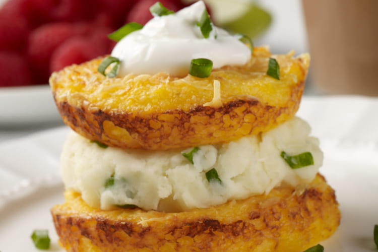Cheesy Baked Grits with a Creamy Mashed Potato Middle Featured Image