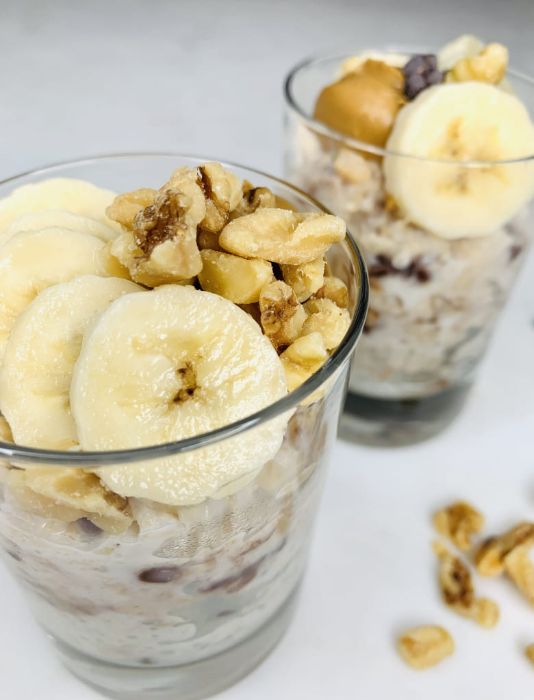 Chocolate, Banana and Peanut Butter Oats Jar