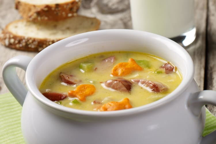 Extremely Cheesy Smoked Sausage Soup Featured Image