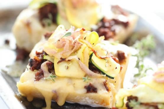 Summer Squash and Chorizo Cheese Toast Featured Image