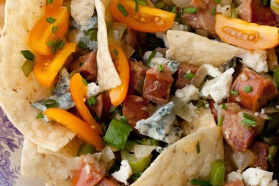 Cajun Nachos With Sausage