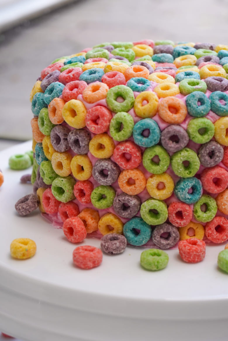 Froot Loops Cereal Milk Cake