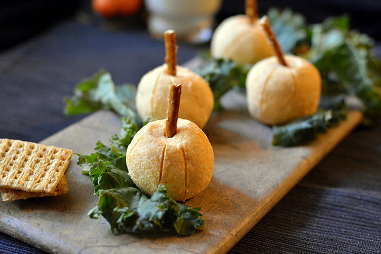 Pumpkin Shaped Cheese Balls