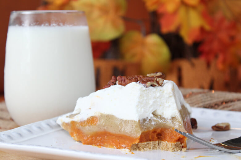 No Bake Pumpkin Spice Pudding Pie