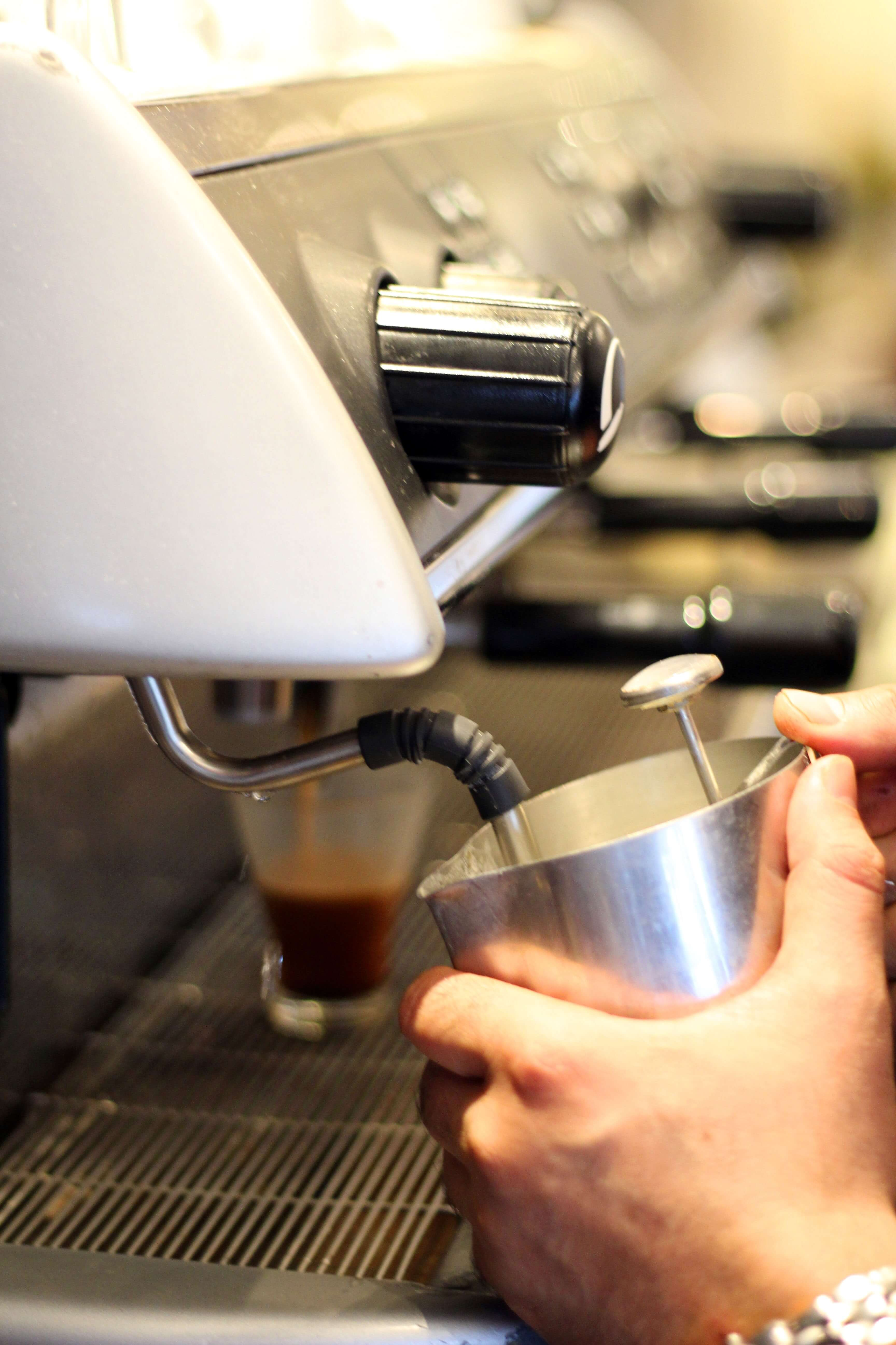coffee getting made by barista