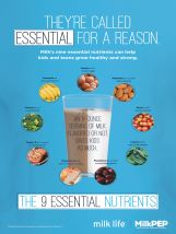 Milk's Nine Essential Nutrients