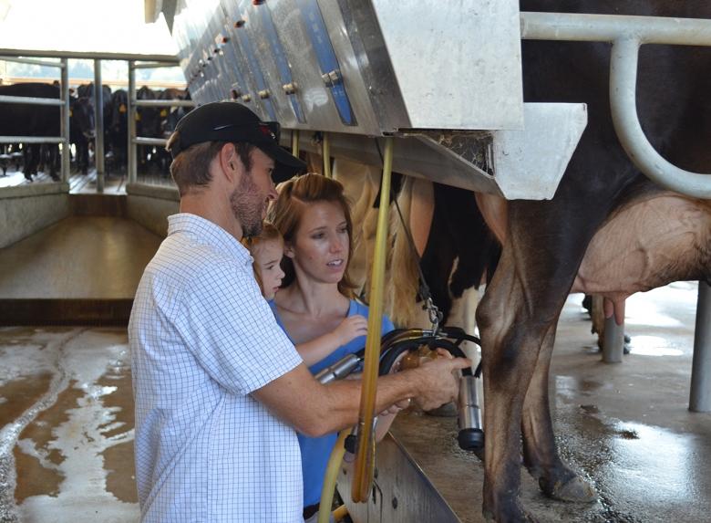 Brad the milking machine